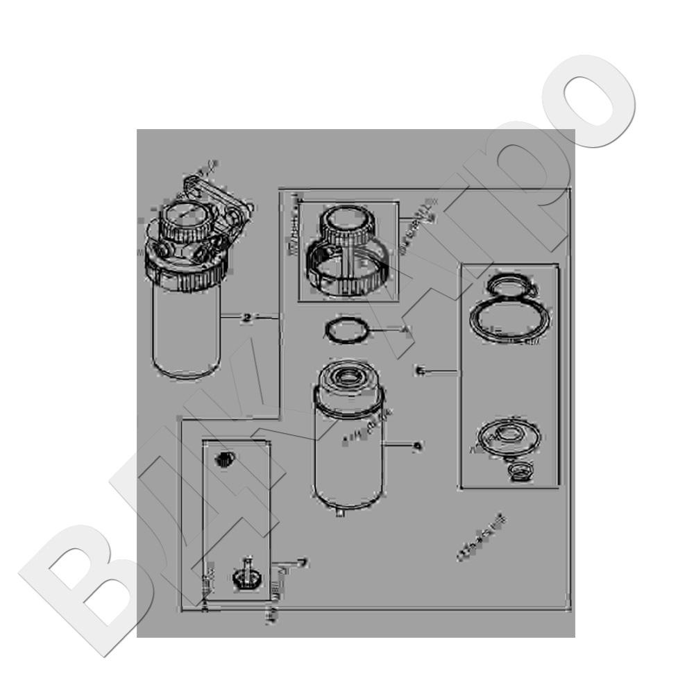 Фильтр топливный,  JD